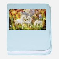 Fantasy Unicorns baby blanket