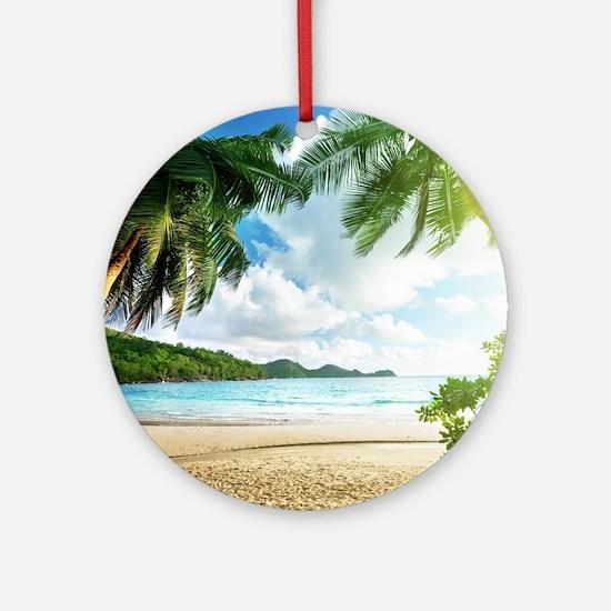 Tropical Beach Ornament (Round)