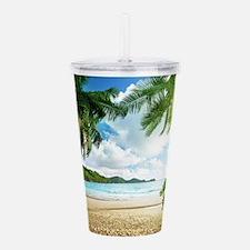 Tropical Beach Acrylic Double-wall Tumbler