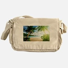 Tropical Beach Messenger Bag