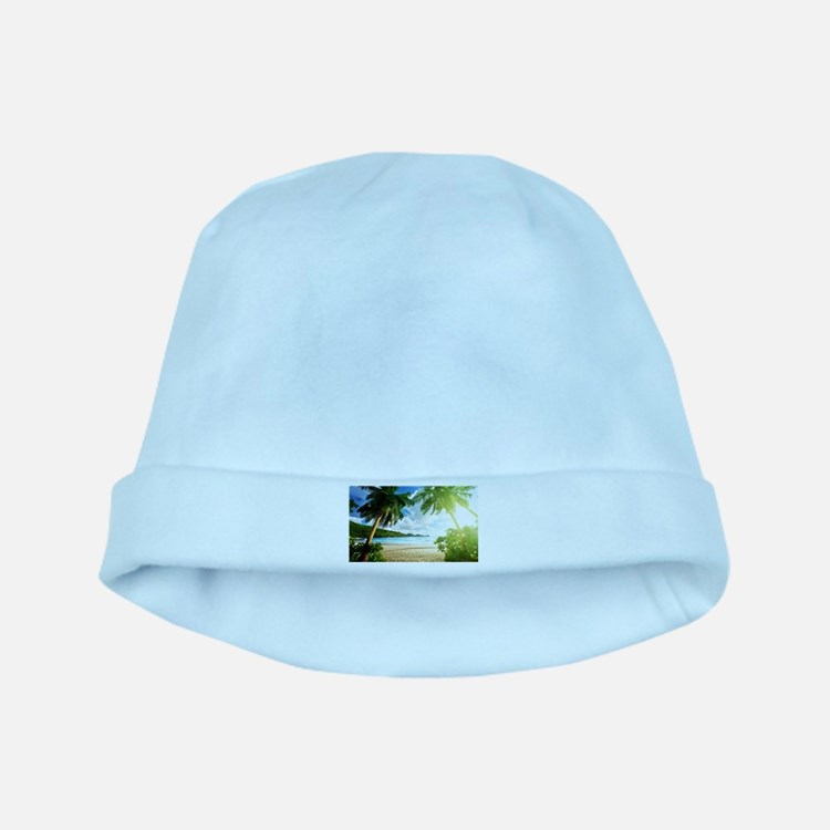 Tropical Beach baby hat