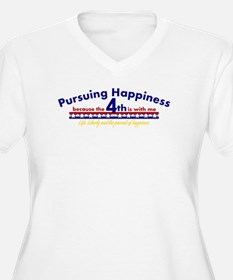 Pursuing Happiness Plus Size T-Shirt