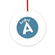 baby A Keepsake Ornament (Round)