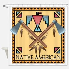 Native American Tomahawks Shower Curtain