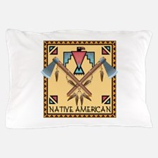 Native American Tomahawks Pillow Case