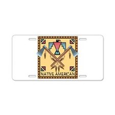 Native American Tomahawks Aluminum License Plate