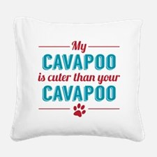 Cuter Cavapoo Square Canvas Pillow