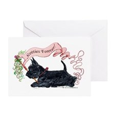 Scotties Forever Banner Greeting Card