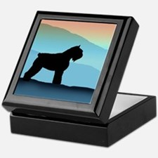 Blue Mountains Bouvier Dog Keepsake Box
