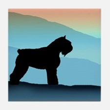 Blue Mountains Bouvier Dog Tile Coaster