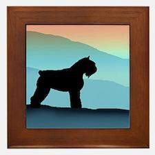 Blue Mountains Bouvier Dog Framed Tile