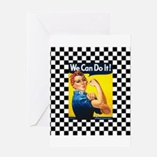 Rosie the Riveter We Can Do It Greeting Cards