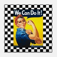 Rosie the Riveter We Can Do It Tile Coaster
