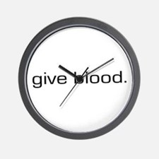 Give Blood Wall Clock