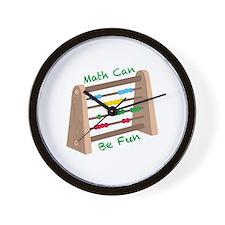 Math Can Be Fun Wall Clock