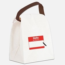 My Name Is Canvas Lunch Bag