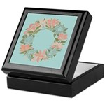 Flowered Summer Floral Wreath Keepsake Box
