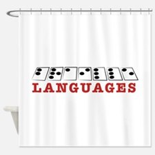 Languages Shower Curtain