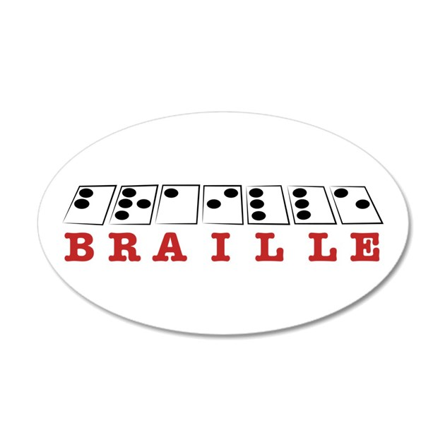 Braille Letters Wall Decal by Windmill44
