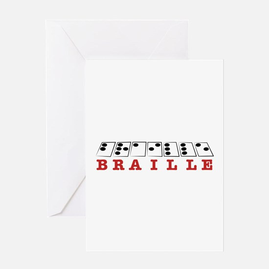 Braille Letters Greeting Cards