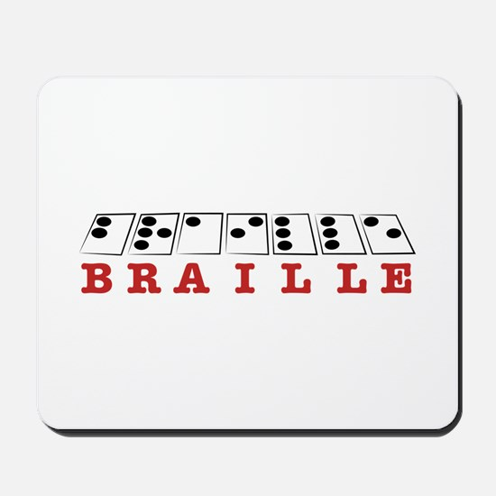 Braille Letters Mousepad