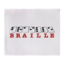 Braille Letters Throw Blanket