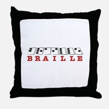 Braille Letters Throw Pillow