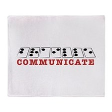 Communicate Throw Blanket