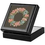 Flowered Summer Floral Wreath Keepsake Box