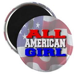 All American Girl Magnet