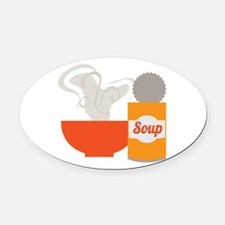 Soup Can Oval Car Magnet