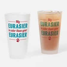 Cuter Eurasier Drinking Glass