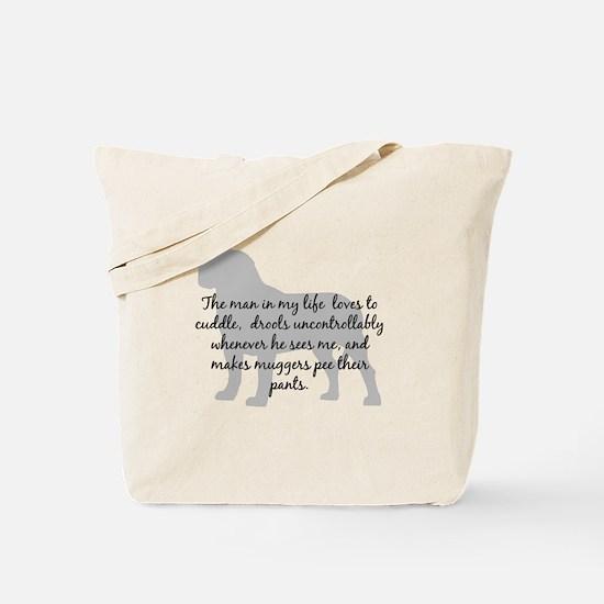 Mastiff Man in my life Tote Bag