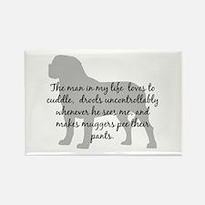 Mastiff Man in my life Rectangle Magnet