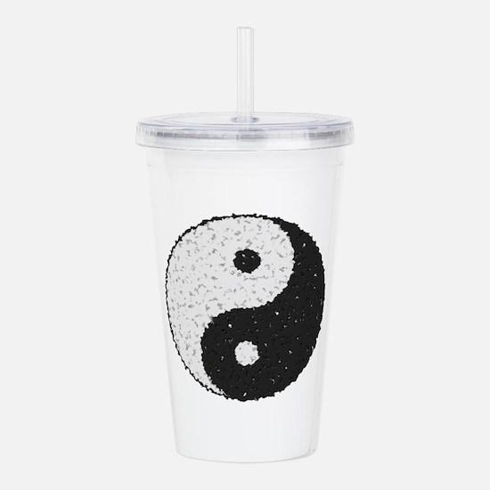 Yin And Yang Symbol Wi Acrylic Double-wall Tumbler