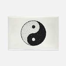 Yin And Yang Symbol With Texture Magnets