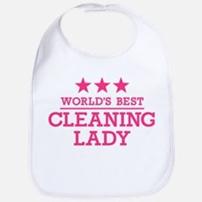 World's best cleaning lady Bib