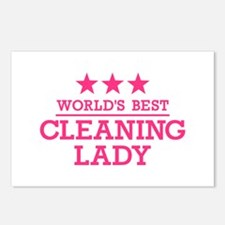 World's best cleaning lad Postcards (Package of 8)