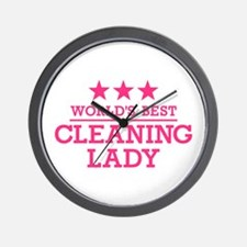 World's best cleaning lady Wall Clock