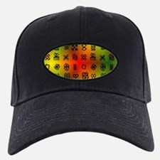 Adinkra Symbols With African Colors Baseball Hat