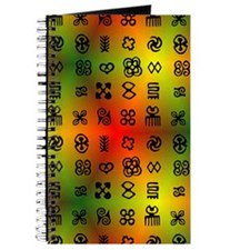 Adinkra Symbols With African Colors Journal