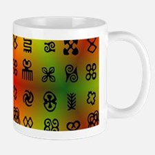 Adinkra Symbols With African Colors Mugs