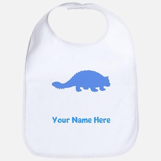 Ankylosaurus Silhouette (Blue) Bib