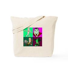 A Vampire, a Mummy, A Franken Tote Bag