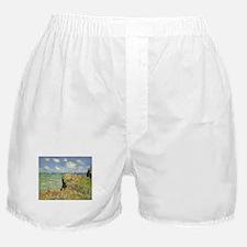 Cliff Walk at Pourville by Claude Mon Boxer Shorts