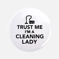 "Trust me I'm a cleaning lad 3.5"" Button (100 pack)"