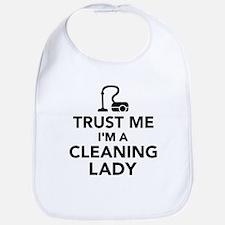 Trust me I'm a cleaning lady Bib