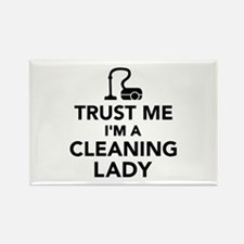 Trust me I'm a cleaning lady Rectangle Magnet