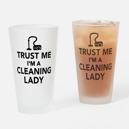 Trust me I'm a cleaning lady Drinking Glass