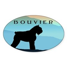 Blue Mountains Bouvier Dog Oval Decal